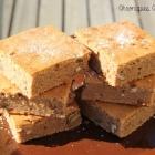 Brownie chocolat blanc à la crème de marron