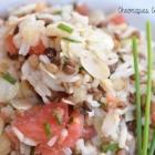 Salade de riz et lentilles aux amandes
