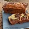 Cake marbré chocolat vanille au mascarpone