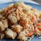 Poulet aux carottes, riz et cardamome