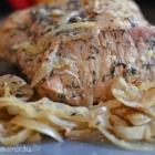 Rôti porc à la moutarde et au sirop d'érable