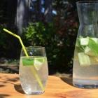 Eau aromatisée au concombre et au citron vert