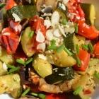 Légumes rôtis et gremolata aux amandes