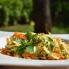 Courgettes et carottes râpées en salade