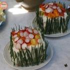 Sandwich cake guacamole et poulet