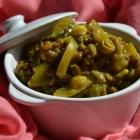 Dhal de lentilles vertes, courgettes et curry indien