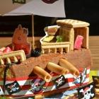 Gâteau d'anniversaire bateau pirate : à l'abordage !