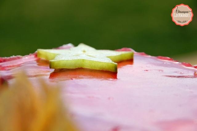 Bavarois framboise nougat et pistache