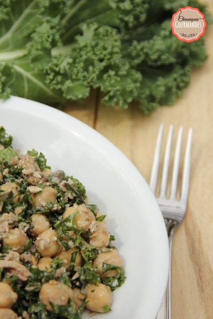 Salade détox au pois chiche et chou kale
