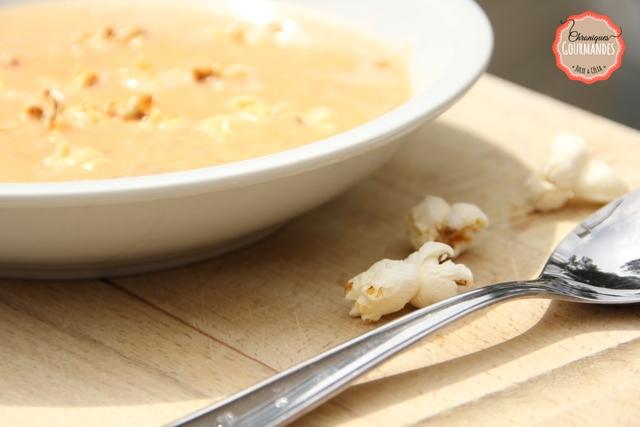 Soupe de maïs au pop-corn