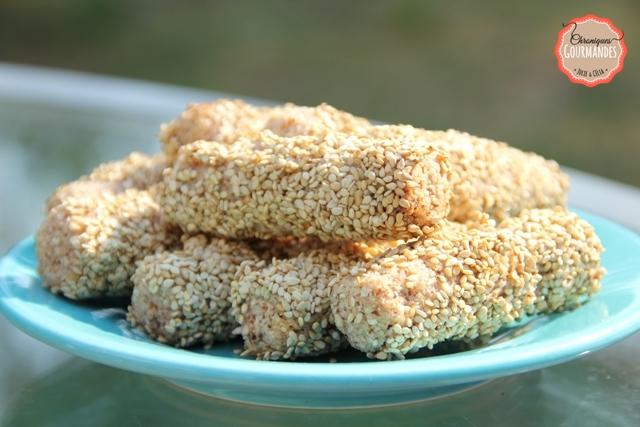 Biscuits aux amandes et graines de sésame