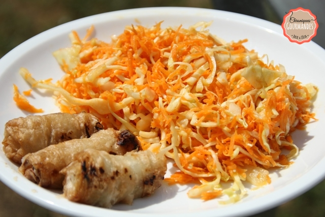 Salade de carottes et de chou râpés à l'asiatique