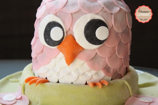 Gâteau chouette d'anniversaire