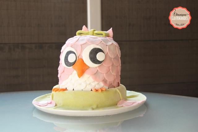 gâteau hibou anniversaire