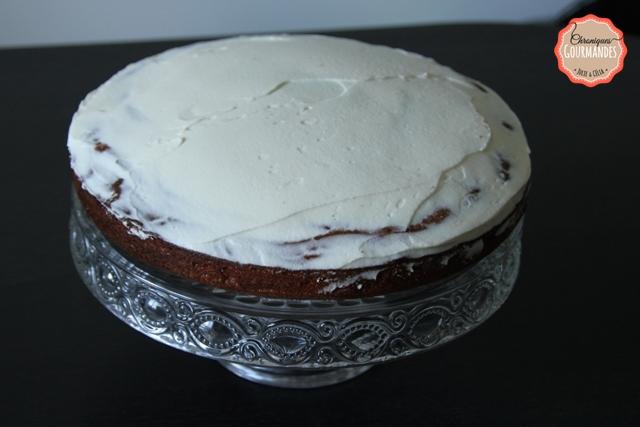 Gâteau zébré framboise vanille