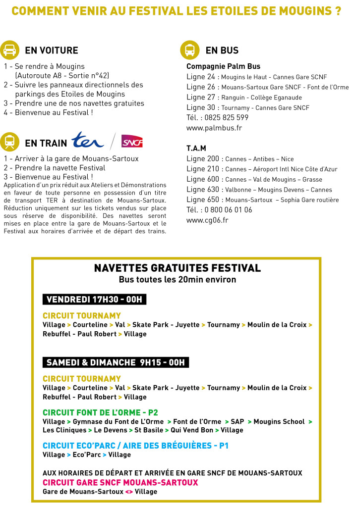 Venir au Festival