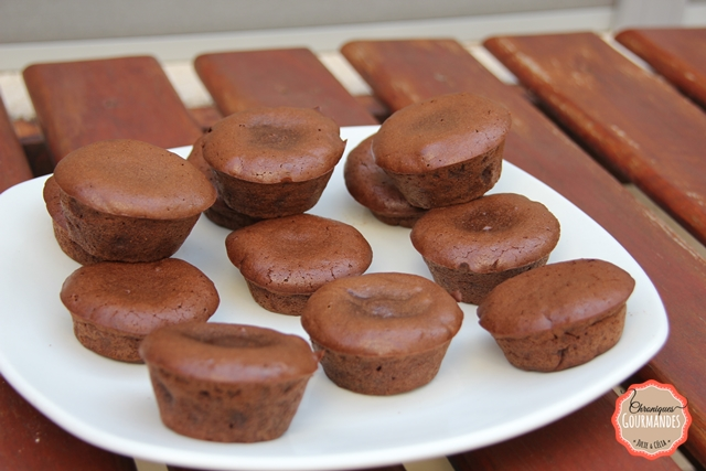Fondants au chocolat et à la farine de châtaigne