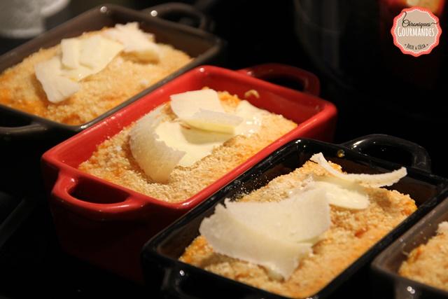 Gratin de poulet et potimarrin au parmesan