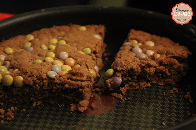 One Pan Cookie au chocolat et smarties