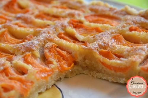 Tarte abricots pignons et flocons d'avoine